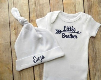 little brother outfit newborn brother outfit baby brother outfit baby boy coming home outfit personalized brother outfit customized