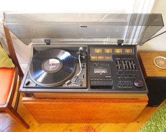 rare old stock Hitachi vintage record player music centre complete & all working made in Japan 1978