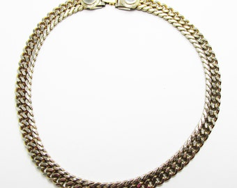 Fashionable Vintage 1960s Gold Filled Contemporary Style Link Necklace