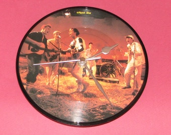 "Haircut One Hundred fantastic day  7"" picture disc record clock"