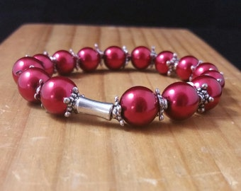 Cranberry Red Stretchy Bracelet