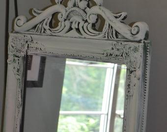 Black Shabby Chic Full Length Mirror