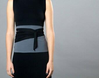 Dual color Obi belt, Wrap belt , Wide belt , High waist belt, Waist Belt, Corset belt, Waist cincher, Plus size, Cloth belt