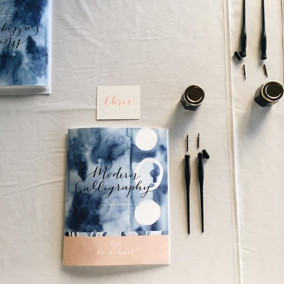 Beginner modern calligraphy starter kit by beaheart on etsy