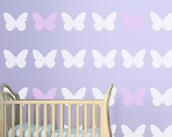Butterfly Wall Stencil, Wall Art Stencil  in reusable Mylar, wall art, small to large stencils up to 19.5 x 27.5 inches.