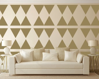 Triangle Wall Stencil, Wall Art Stencil  in reusable Mylar, wall art, small to large stencils up to 19.5 x 27.5 inches.