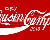 Cousin Camp Digital file for T-Shirt