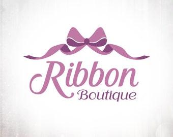 Ribbon Curl Logo Design - Premade OOAK