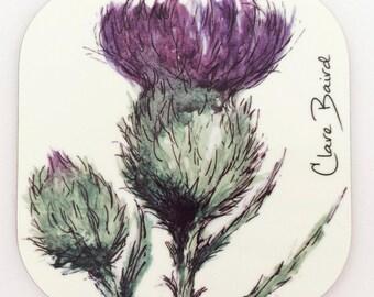 Flower of Scotland Coasters