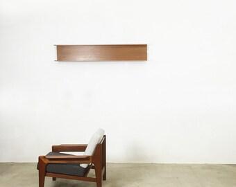 vintage Wilhelm Renz Teak Wallboard shelf | Wandregal denmark midcentury  | made in germany 70s | wall unit | eames paton era danish modern