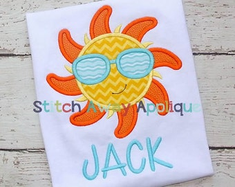 Sun with Sunglasses onesie or toddler shirt