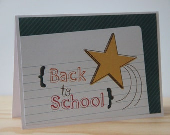 9 Back To School Note Cards. 1st Day of School Cards. Teacher Note Cards. Teacher Stationery.  Teacher Thank You Cards.  Blank Teacher Cards