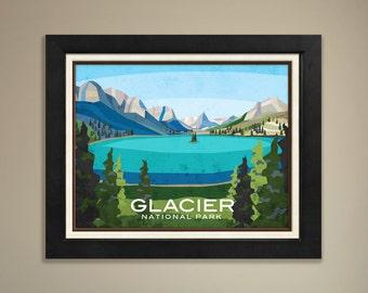 Glacier National Park Framed Print
