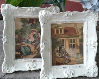 Germany Plaster of Paris frames with pictures. Old country feel.  FREE SHIPPING!!