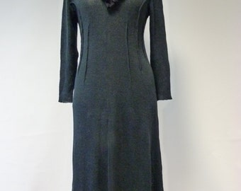 Sale, new price 80 EUR, original price 124 EUR. Black linen long dress, XL size. Handmade, only one sample.