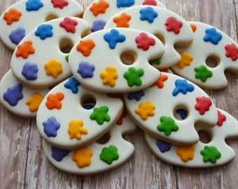 Paint Palette cookies (12 Cookies)