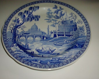 Vintage made in England The Spode Blue Room Collection ROME decorative plate