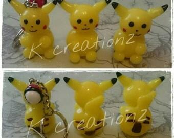 Pikachu inspired keyring