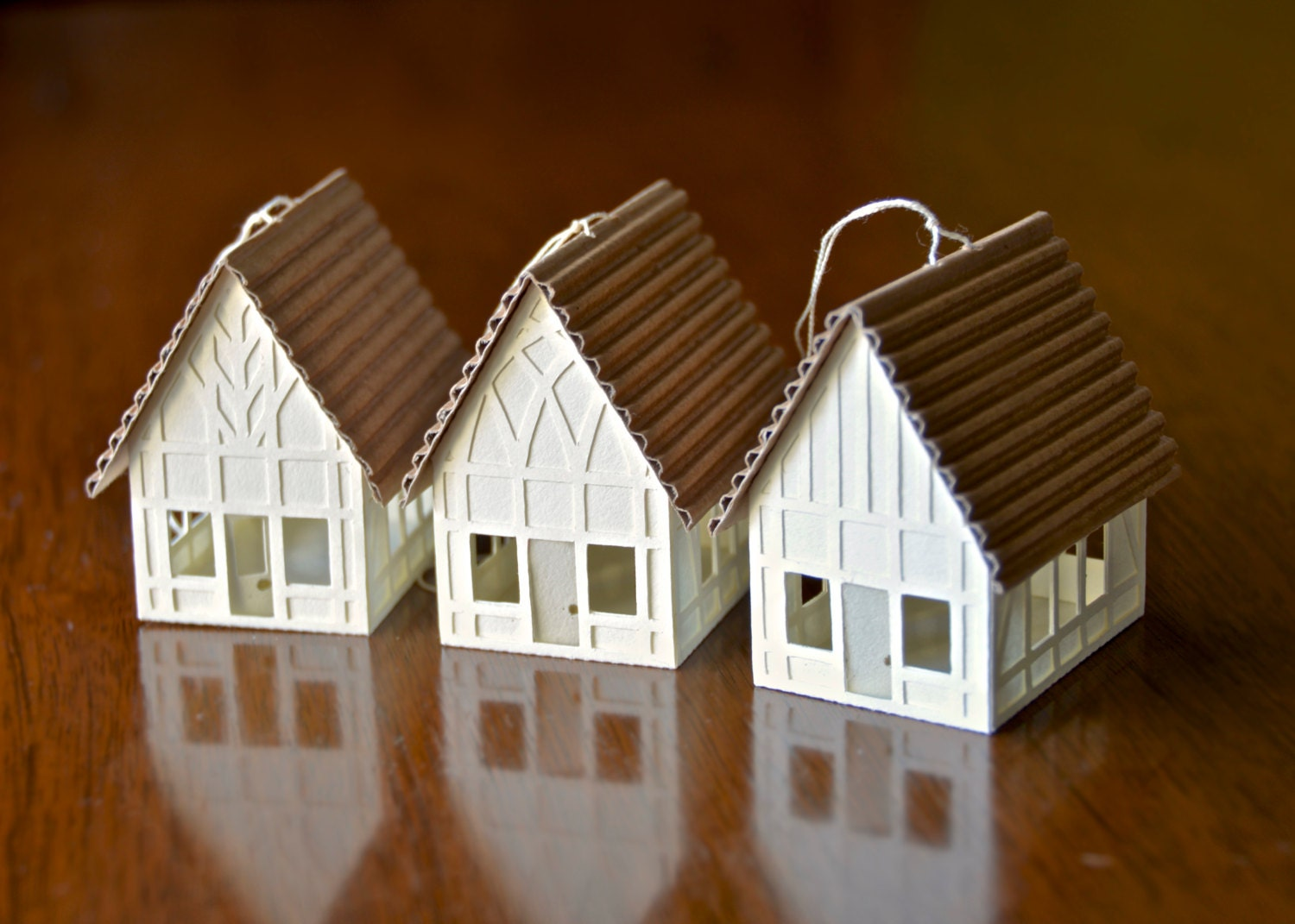 Paper Tudor House Christmas Ornament Or Putz By Koontzdesigns