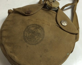 Vintage Aluminum Boy Scout Canteen with Cover good condition