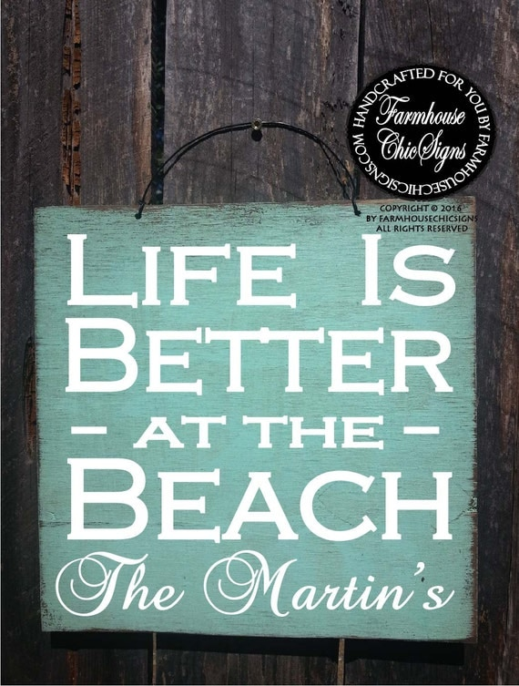 beach house sign, personalized beach house decor, beach wall art, beach wall decor, coastal decor, beach house, hand painted beach signs