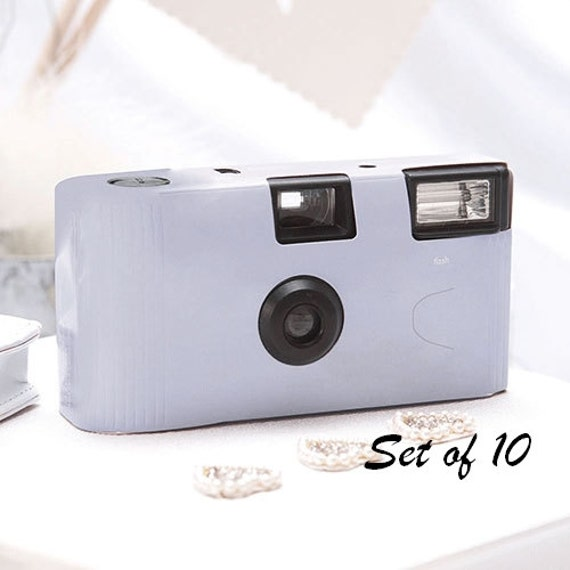 10 Disposable Cameras Wedding Favor Lilac Camera