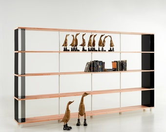 Modular Bookcase SKAFFA WOOD  solid Wood Bücherregal Massiv Holz étagère H.171