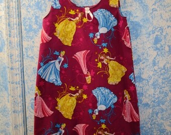 Princesses Summer Nightgown Girls size 5/6