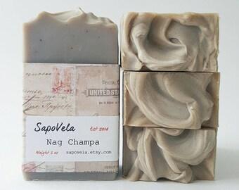 5oz Nag Champa Soap, Vegan Soap, Palm Oil Free Soap, Handmade Gift
