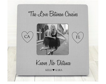 Cousin Gift Cousin Frame States Picture Frame Cousins Picture Frame Cousin Gift Cousin Birthday Family Frame Long Distance Cousins