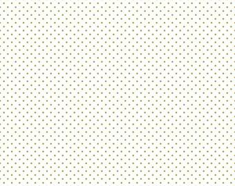 Riley Blake Sparkle Swiss Dot Gold (Half metre)