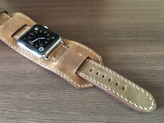 Apple Watch Band   Apple Watch Strap   Vintage Leather Cuff Watch Band   Vintage Brown Leather Cuff Watch Strap For Apple Watch 42mm