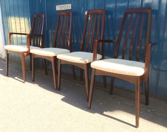 SOLD: Set of Four or Six 1960s Solid Rosewood Dining Chairs by Svegards Markaryd. Vintage / Retro / Mid Century