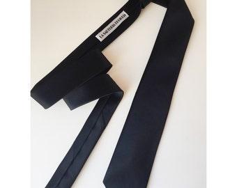 Thin black tie for men