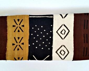 Brown White Black Multicolor Mud Cloth|Bogolanfini Fabric| 72 x 48 inches