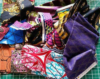By the Pound|Ankara African Wax Print Fabric| Small Fabric Scraps Remnants