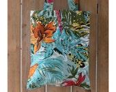 REBAJAS -15 %. Código: SUMMER2016. Tote bag de tela de flores. Bolso verano. Bolso algodón. Bolsa playa