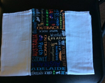 Australia burp cloth