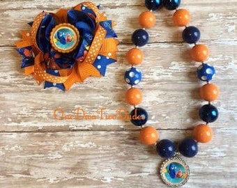Nemo Dory chunky necklace stacked bow