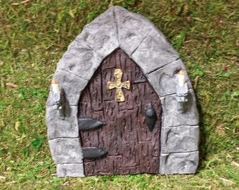 Gothic Fairy Door/ Gnome door, Ogre door, Troll door