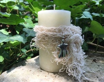 Ghostly Gathering™ Pillar. Vanilla, Cocoa Bean, Sea Salt and more For Spirit Contact and Seances. Samhain. 2x3.5