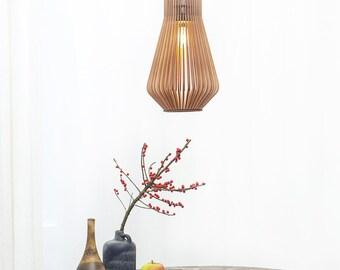 Wooden lamp , design wooden lamp , wooden lightning, modern design  , kitchen lamp , bedroom lighting , dining room lamp 'New York S'