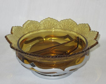 Farber Bros with Amber Divided Dish