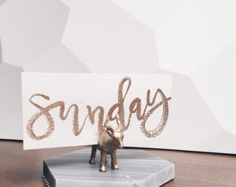 Gold// Jungle Animals //  Wedding // Magnet // Place card Holders // Business Card Holders ( Set of 5 )