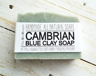 Cambrian Blue Clay, Organic Soap, Cold Process Soap, Lemongrass Soap, Detox Soap, Blue Clay Soap, Vegan Soap, Cambrian Clay Soap