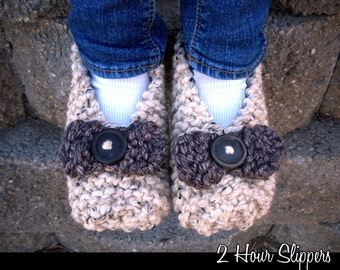 2 Hour Slippers Knitting Pattern