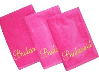 Monogrammed towels, Monogrammed beach towels, Bachelorette Party Ideas, Bachelorette Gift ideas, Party favor ideas, Personalized Bridesmaid
