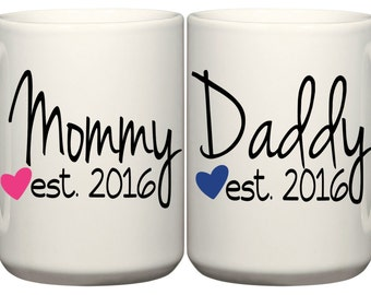 Set of Mommy and Daddy Coffee Mugs