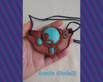 Necklace AMADAHY (forest of water)-ethnic necklace-gemstone Necklace-Jewelry-Jewelry-Turquoise