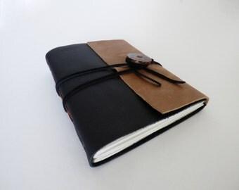 Black & Tan Leather Journal